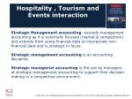hospitality tourism and events interaction