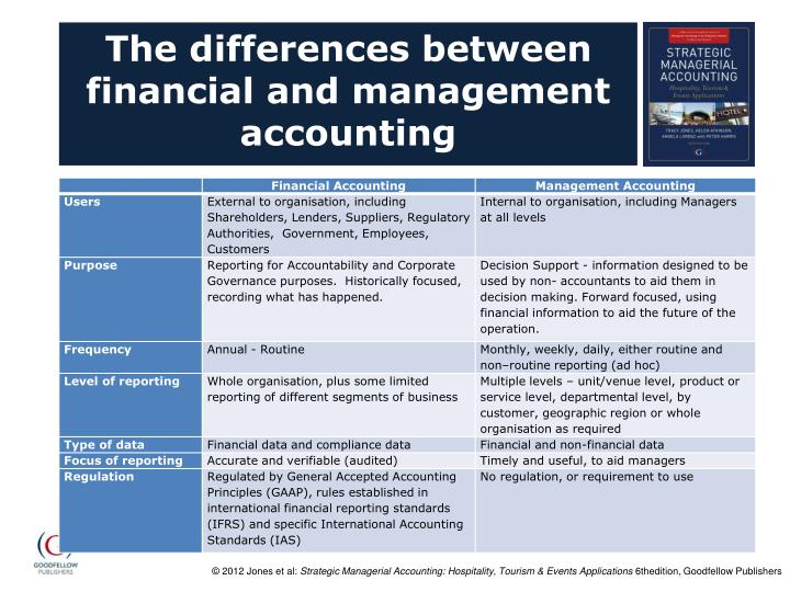 The differences between financial and management accounting