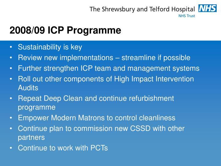 2008/09 ICP Programme