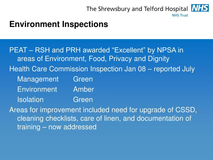 Environment Inspections