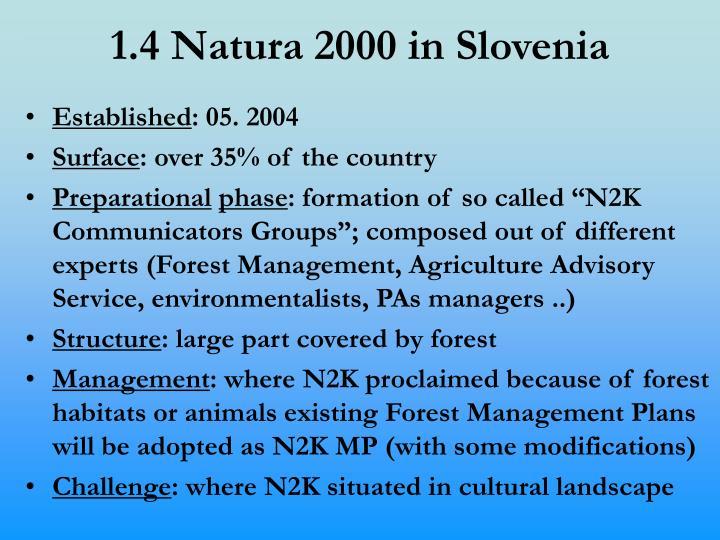 1.4 Natura 2000 in Slovenia