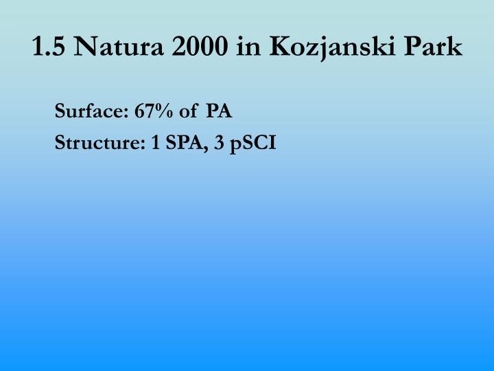 1.5 Natura 2000 in Kozjanski Park