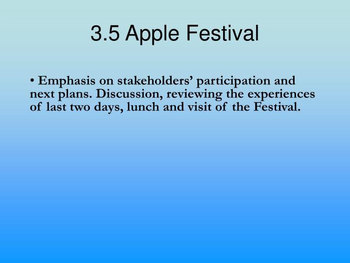 3.5 Apple Festival