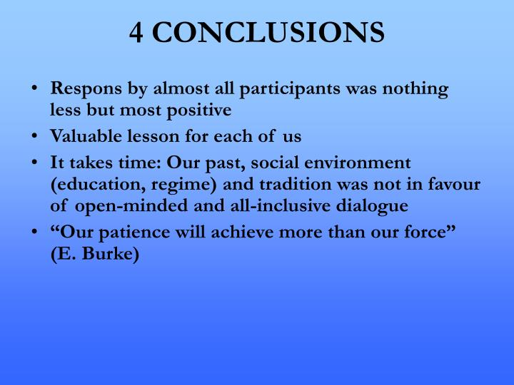 4 CONCLUSIONS