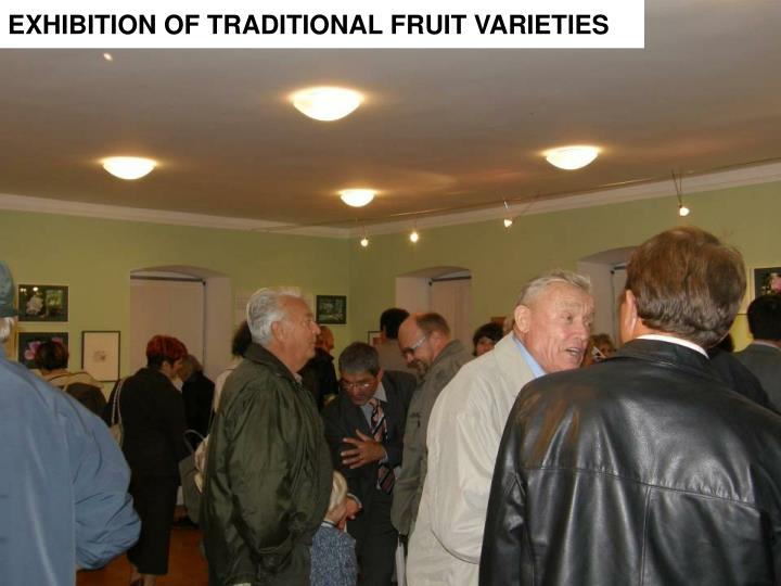 EXHIBITION OF TRADITIONAL FRUIT VARIETIES