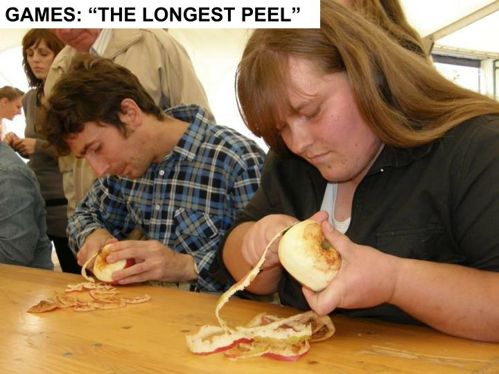 "GAMES: ""THE LONGEST PEEL"""