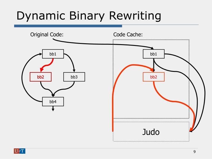 Dynamic Binary Rewriting