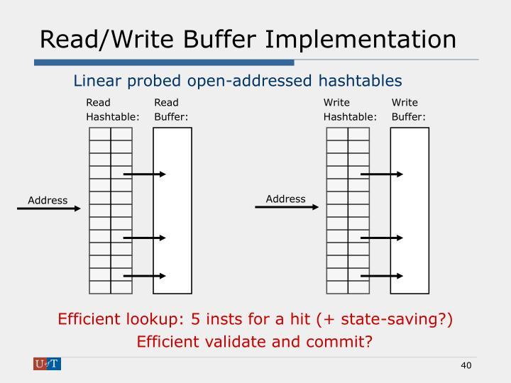 Read/Write Buffer Implementation