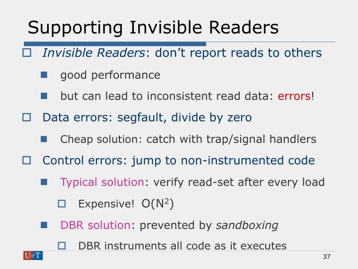Supporting Invisible Readers