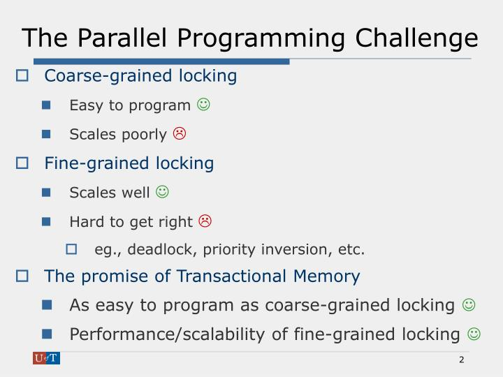 The Parallel Programming Challenge