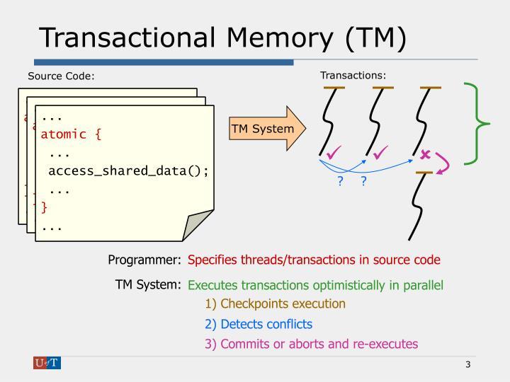 Transactional Memory (TM)