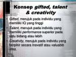 konsep gifted talent creativity