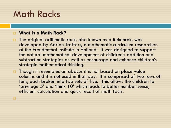 Math Racks