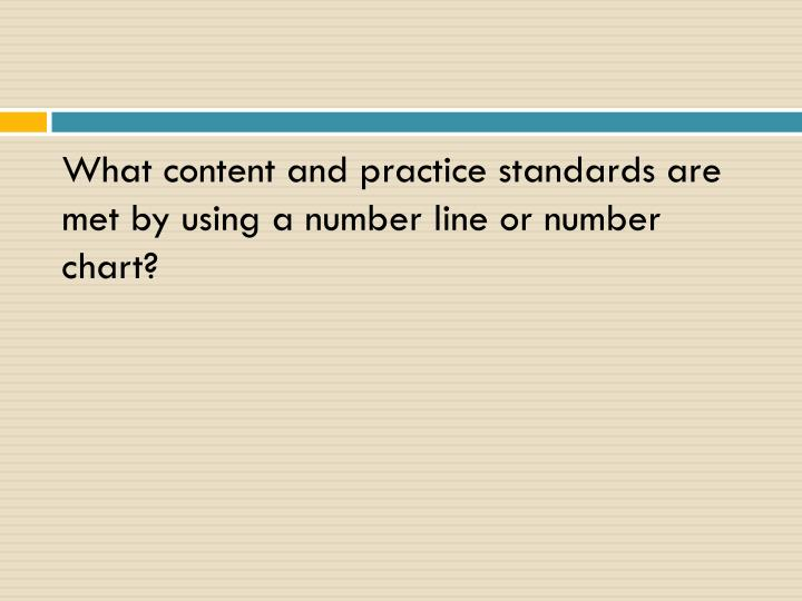 What content and practice standards are met by using a