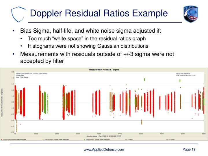 Doppler Residual Ratios Example