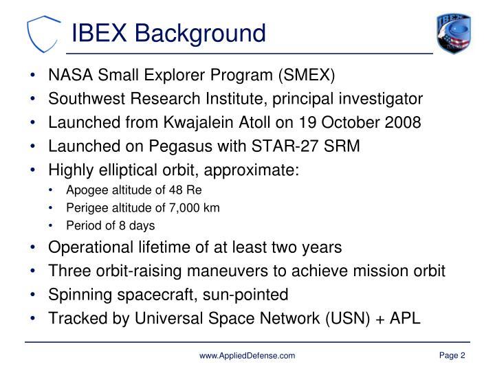 IBEX Background