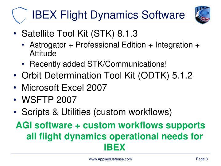 IBEX Flight Dynamics Software