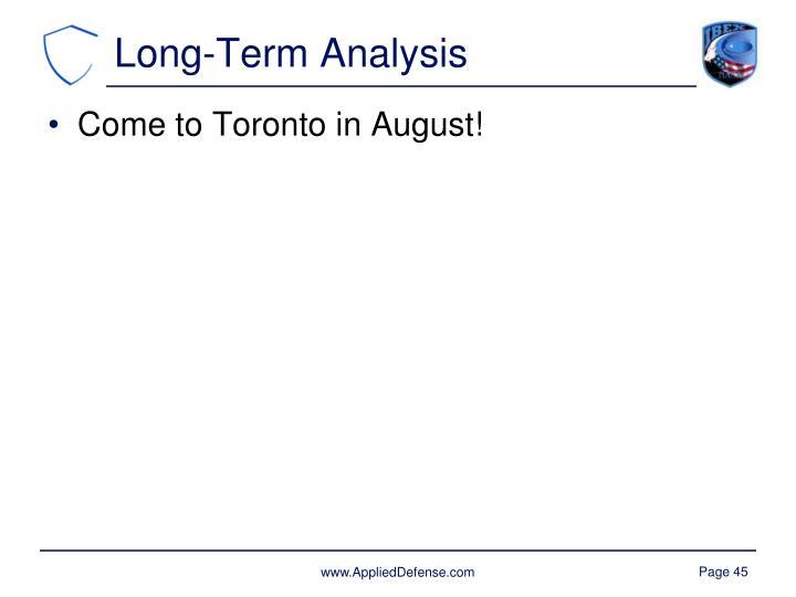 Long-Term Analysis