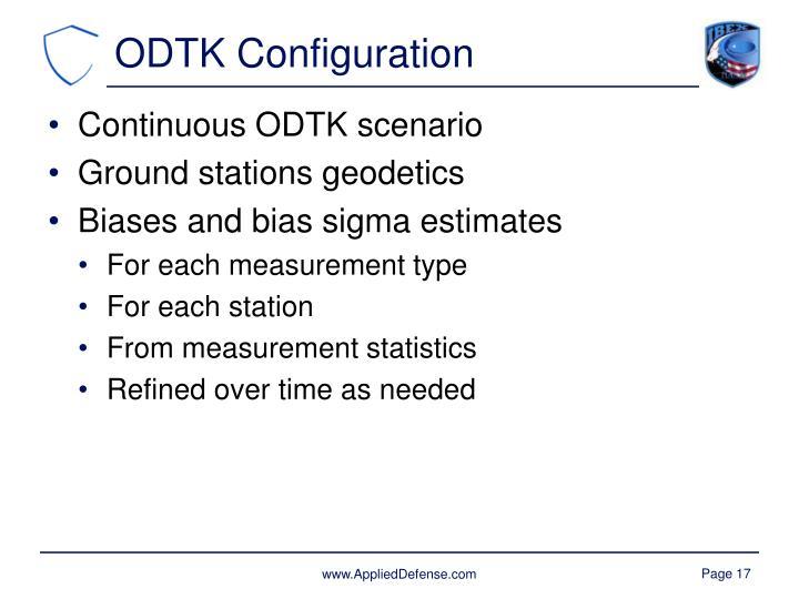 ODTK Configuration