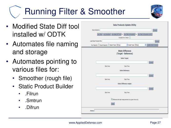 Running Filter & Smoother