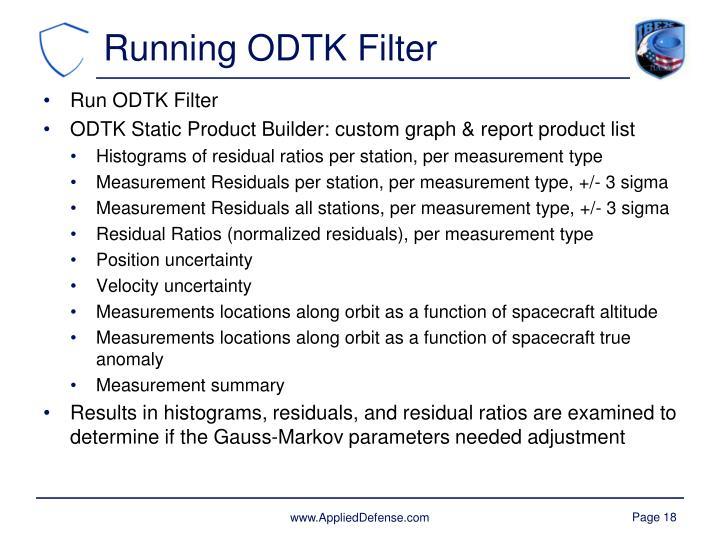 Running ODTK Filter