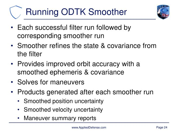 Running ODTK Smoother