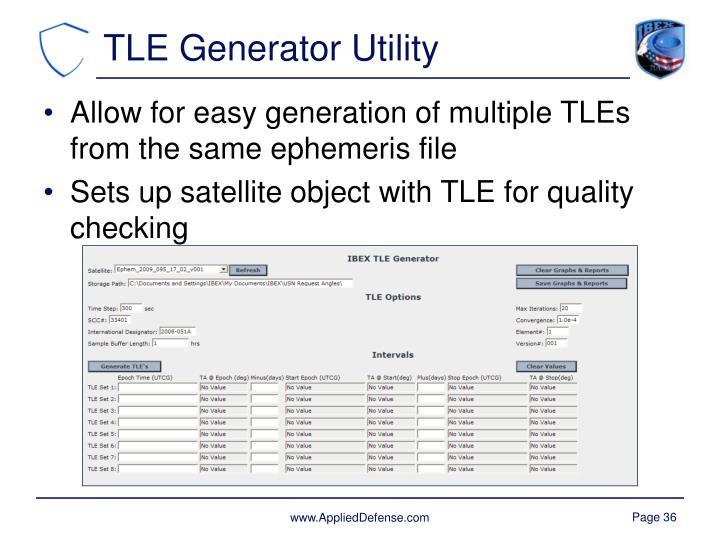 TLE Generator Utility