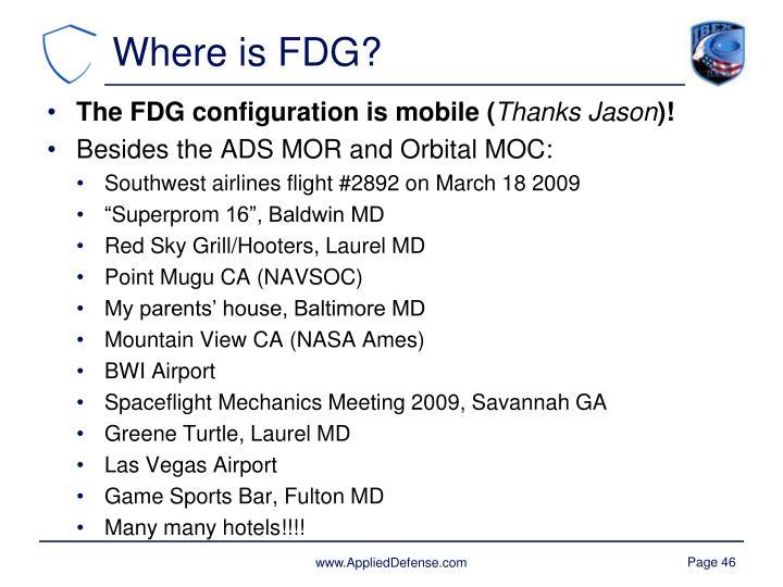 Where is FDG?