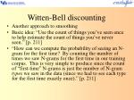 witten bell discounting