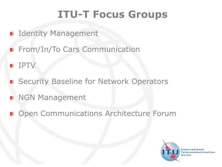 ITU-T Focus Groups
