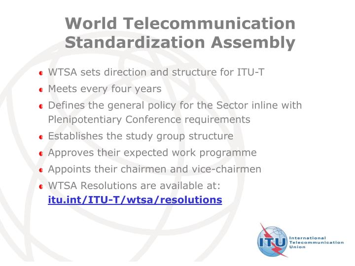 World Telecommunication Standardization Assembly