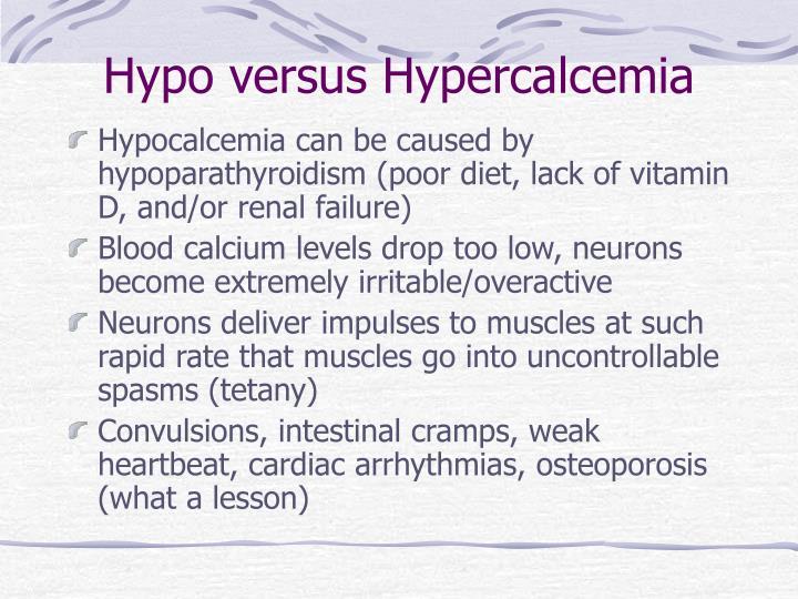 Hypo versus Hypercalcemia