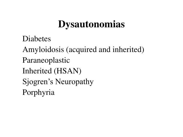 Dysautonomias