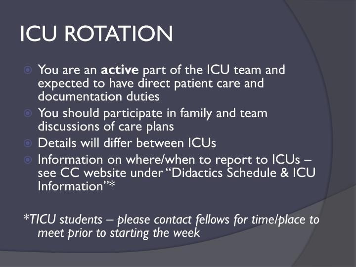 ICU ROTATION