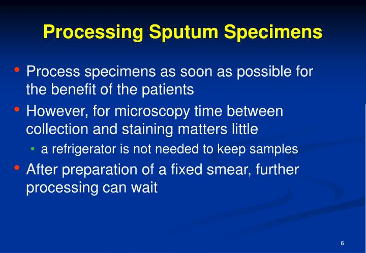 Processing Sputum Specimens