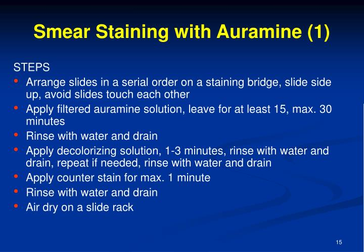 Smear Staining with Auramine (1)