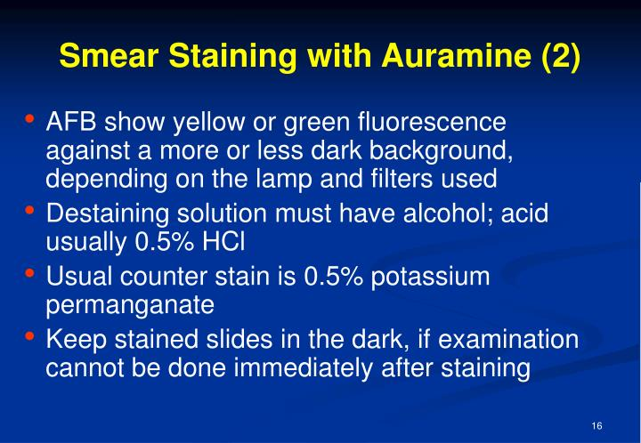 Smear Staining with Auramine (2)