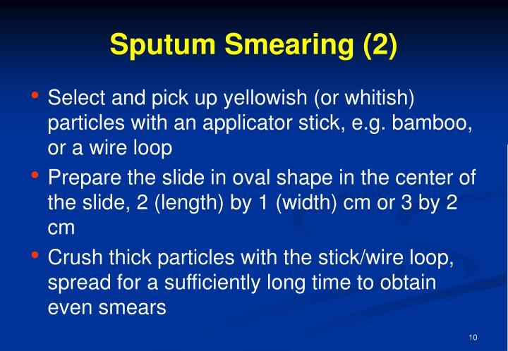 Sputum Smearing (2)