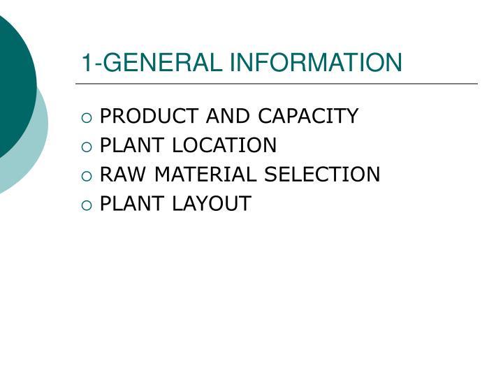 1-GENERAL INFORMATION