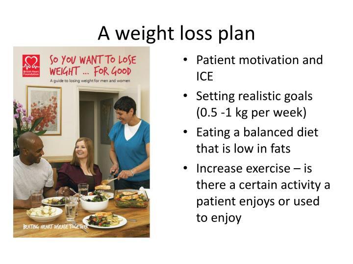 A weight loss plan