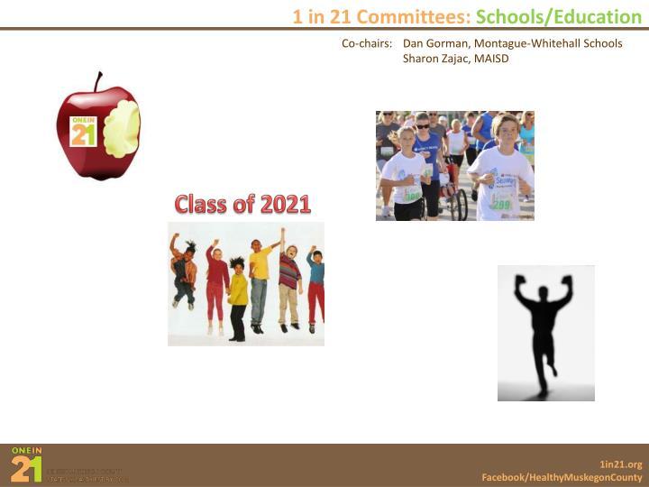 1 in 21 Committees: