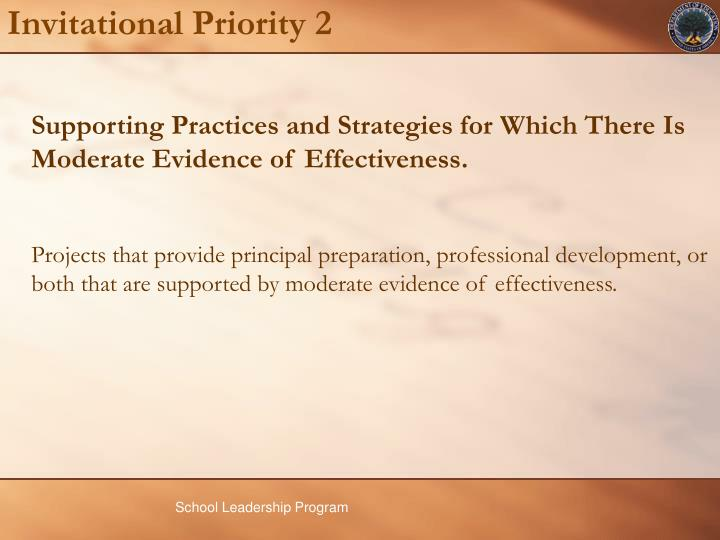 Supporting Practices and Strategies for Which There Is Moderate Evidence of Effectiveness.
