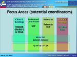 fo c us areas potential coordinators