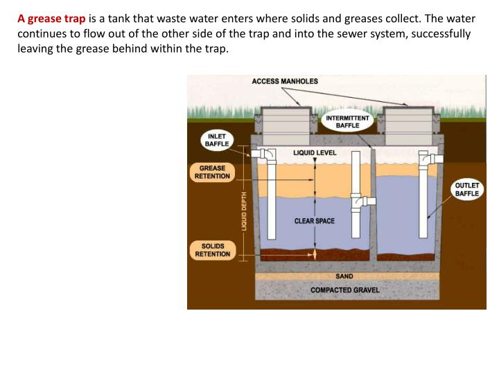 A grease trap