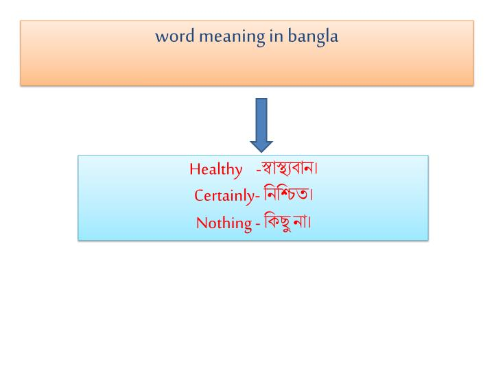 word meaning in