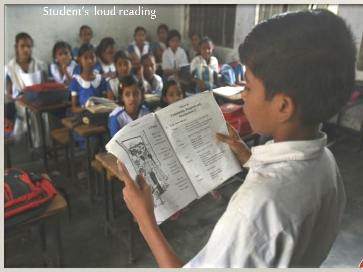 Student's  loud reading