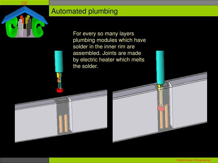 Automated plumbing