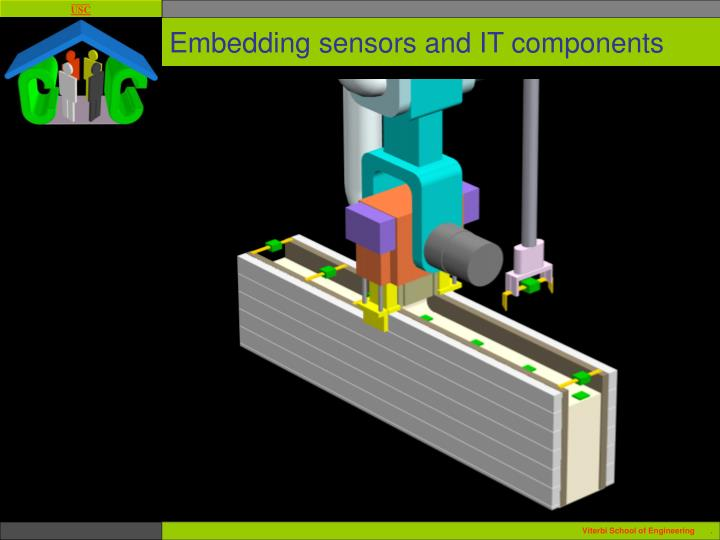 Embedding sensors and IT components