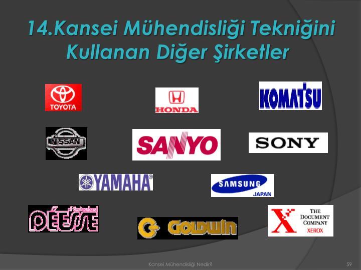 14.Kansei Mühendisliği Tekniğini Kullanan Diğer Şirketler
