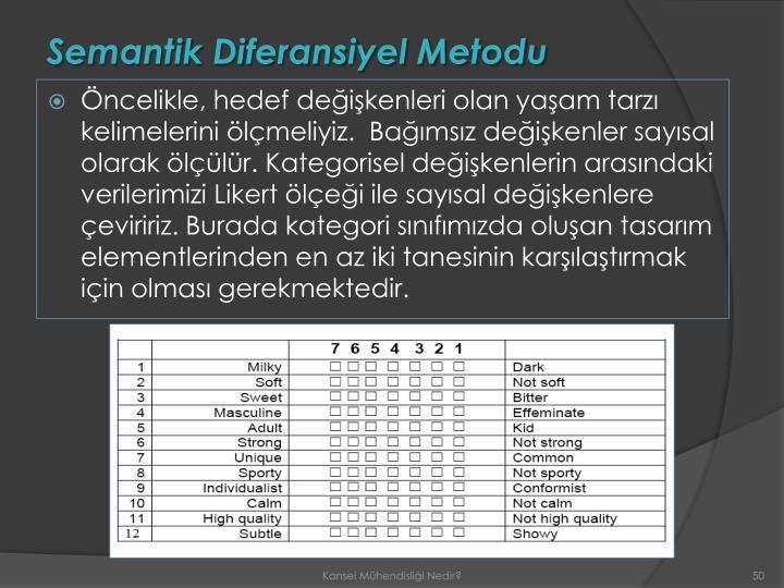Semantik Diferansiyel Metodu